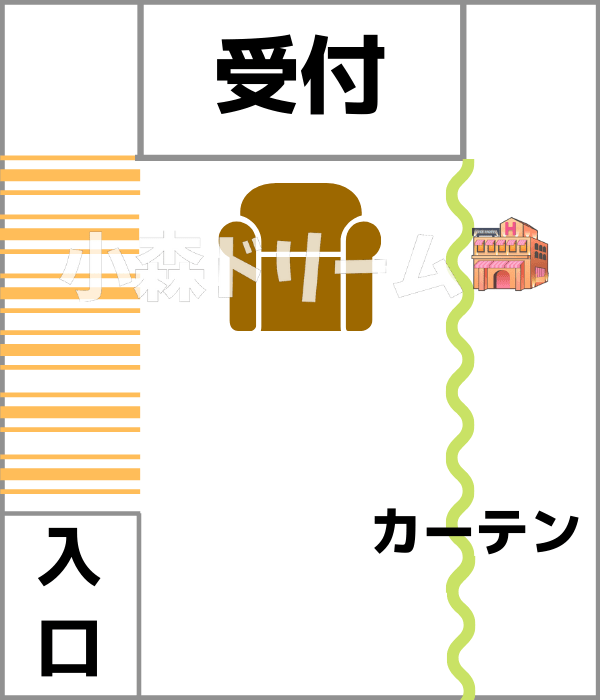 イマジン東京の受付イメージ