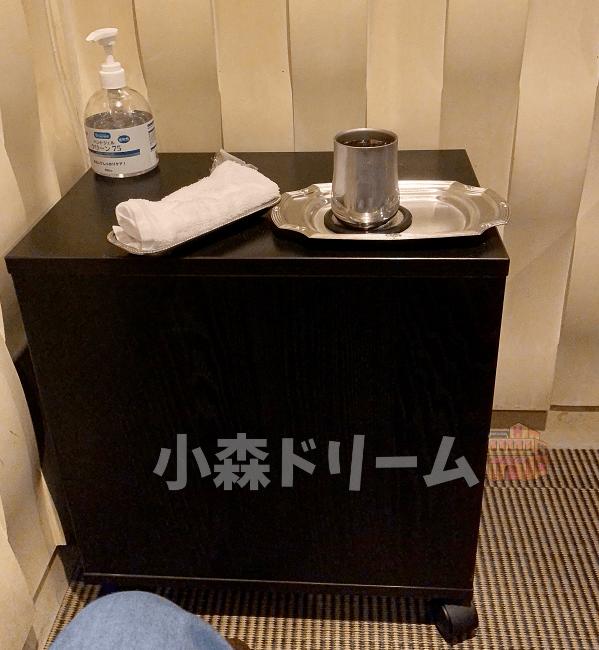 お茶とおしぼり