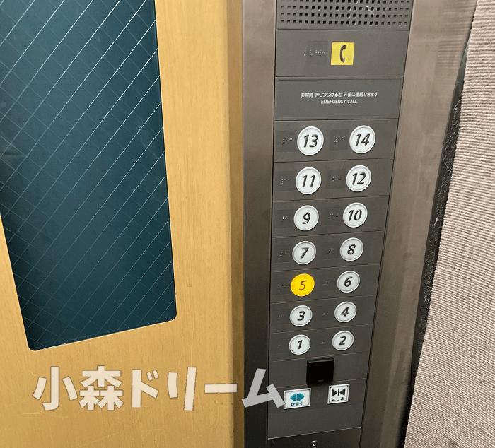 エレベーター内のイメージ